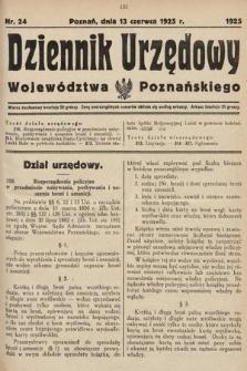 Dziennik Urzędowy Województwa Poznańskiego. 1925, nr24