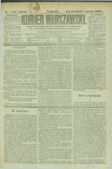 Kurjer Warszawski. R.69, nr 7 (7 stycznia 1889)