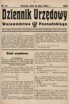Dziennik Urzędowy Województwa Poznańskiego. 1925, nr30