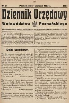 Dziennik Urzędowy Województwa Poznańskiego. 1925, nr31