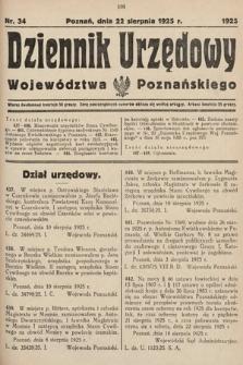 Dziennik Urzędowy Województwa Poznańskiego. 1925, nr34