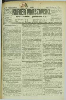 Kurjer Warszawski : dodatek poranny. R.69, nr 72 (13 marca 1889)