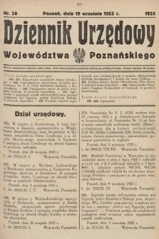 Dziennik Urzędowy Województwa Poznańskiego. 1925, nr38