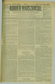 Kurjer Warszawski. R.69, nr 112 (24 kwietnia 1889)