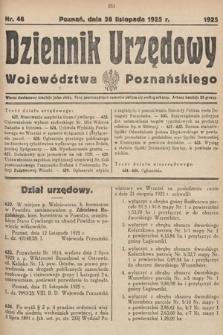 Dziennik Urzędowy Województwa Poznańskiego. 1925, nr48