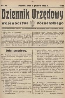 Dziennik Urzędowy Województwa Poznańskiego. 1925, nr49