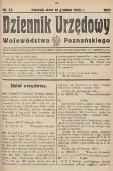 Dziennik Urzędowy Województwa Poznańskiego. 1925, nr50