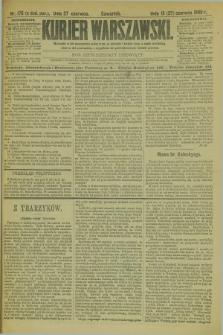Kurjer Warszawski. R.69, nr 175 (27 czerwca 1889)