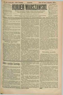 Kurjer Warszawski. R.69, nr 210 (1 sierpnia 1889)