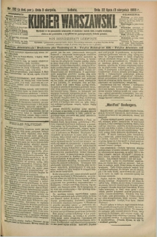Kurjer Warszawski. R.69, nr 212 (3 sierpnia 1889)