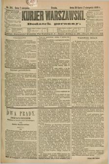 Kurjer Warszawski : dodatek poranny. R.69, nr 216 (7 sierpnia 1889)