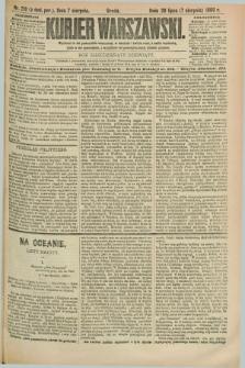Kurjer Warszawski. R.69, nr 216 (7 sierpnia 1889)