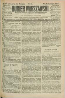 Kurjer Warszawski. R.69, nr 226 (17 sierpnia 1889)
