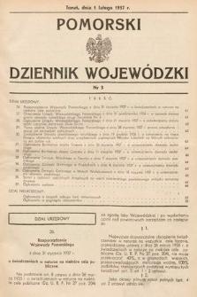 Pomorski Dziennik Wojewódzki. 1937, nr3
