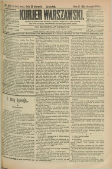 Kurjer Warszawski. R.69, nr 238 (29 sierpnia 1889)