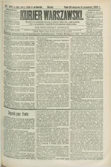 Kurjer Warszawski. R.69, nr 244 (4 września 1889)