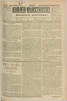 Kurjer Warszawski : dodatek poranny. R.69, nr 245 (5 września 1889)