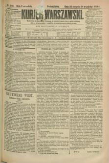 Kurjer Warszawski. R.69, nr 249 (9 września 1889)