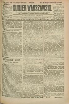 Kurjer Warszawski. R.69, nr 250 (10 września 1889)