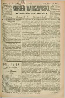 Kurjer Warszawski : dodatek poranny. R.69, nr 254 (14 września 1889)