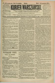 Kurjer Warszawski. R.69, nr 254 (14 września 1889)