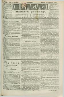 Kurjer Warszawski : dodatek poranny. R.69, nr 266 (26 września 1889)