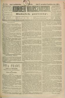 Kurjer Warszawski : dodatek poranny. R.69, nr 279 (9 października 1889)
