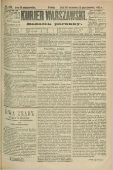 Kurjer Warszawski : dodatek poranny. R.69, nr 282 (12 października 1889)