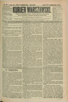 Kurjer Warszawski. R.69, nr 287 (17 października 1889)
