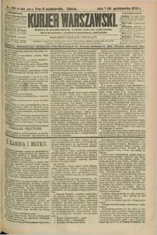 Kurjer Warszawski. R.69, nr 289 (19 października 1889)