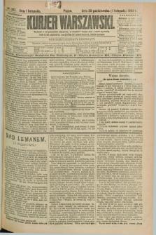 Kurjer Warszawski. R.69, nr 302 (1 listopada 1889)