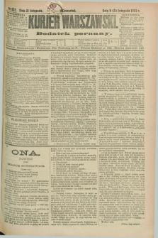 Kurjer Warszawski : dodatek poranny. R.69, nr 322 (21 listopada 1889)