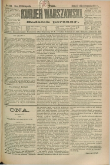 Kurjer Warszawski : dodatek poranny. R.69, nr 330 (29 listopada 1889)