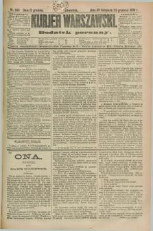 Kurjer Warszawski : dodatek poranny. R.69, nr 343 (12 grudnia 1889)
