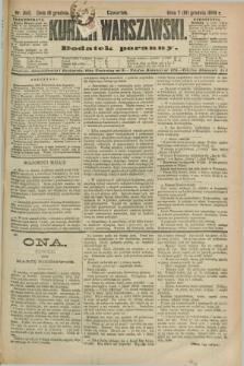 Kurjer Warszawski : dodatek poranny. R.69, nr 350 (19 grudnia 1889)