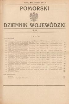 Pomorski Dziennik Wojewódzki. 1937, nr11