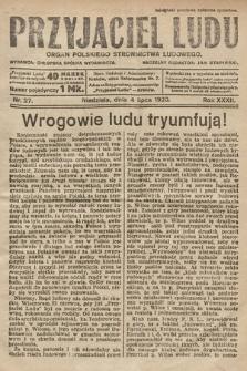Przyjaciel Ludu : organ Polskiego Stronnictwa Ludowego. 1920, nr27