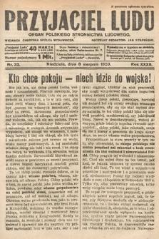 Przyjaciel Ludu : organ Polskiego Stronnictwa Ludowego. 1920, nr32