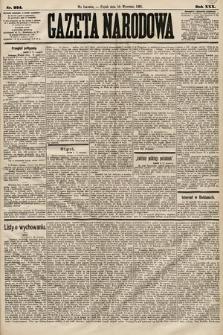 Gazeta Narodowa. 1891, nr224