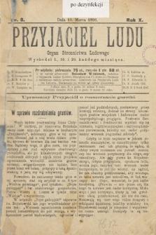 Przyjaciel Ludu : organ Stronnictwa Ludowego. 1898, nr8