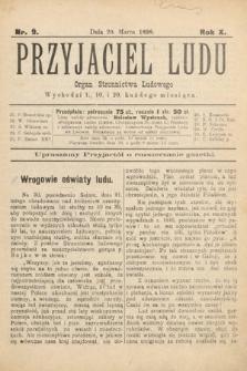 Przyjaciel Ludu : organ Stronnictwa Ludowego. 1898, nr9