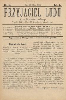 Przyjaciel Ludu : organ Stronnictwa Ludowego. 1898, nr14