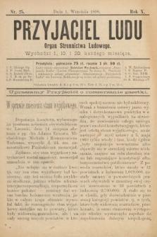 Przyjaciel Ludu : organ Stronnictwa Ludowego. 1898, nr25