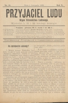 Przyjaciel Ludu : organ Stronnictwa Ludowego. 1898, nr31
