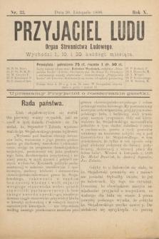 Przyjaciel Ludu : organ Stronnictwa Ludowego. 1898, nr33