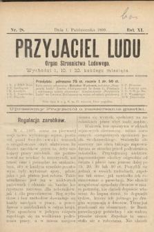 Przyjaciel Ludu : organ Stronnictwa Ludowego. 1899, nr28