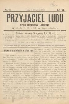 Przyjaciel Ludu : organ Stronnictwa Ludowego. 1899, nr34