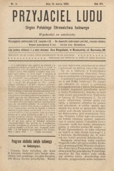 Przyjaciel Ludu : organ Polskiego Stronnictwa Ludowego. 1904, nr11