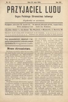 Przyjaciel Ludu : organ Polskiego Stronnictwa Ludowego. 1904, nr22