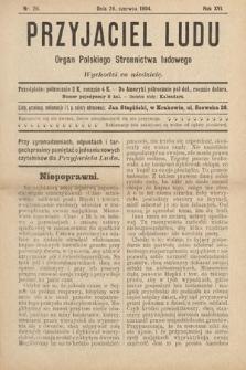 Przyjaciel Ludu : organ Polskiego Stronnictwa Ludowego. 1904, nr26